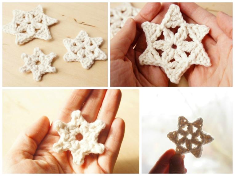 Crochet Snowflakes - 3 Free Crochet Patterns by JaKiGu