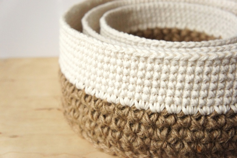 Free Printable Crochet Basket Patterns : work in progress: stacking baskets ? JaKiGu