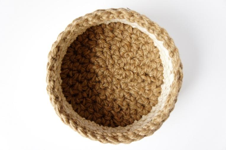 Basket Making Jute : Work in progress jute and cotton crochet basket jakigu